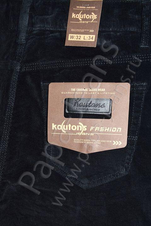 Брюки мужские Koutons KL-8109 Black вельветовые - фото 4