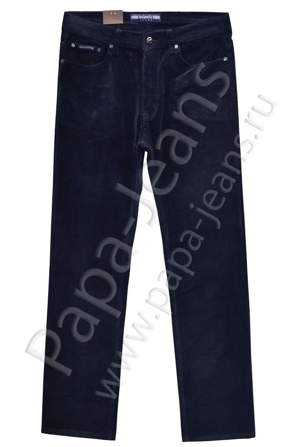 Брюки мужские Koutons KL-8126 Blue-Blue вельветовые - фото 1