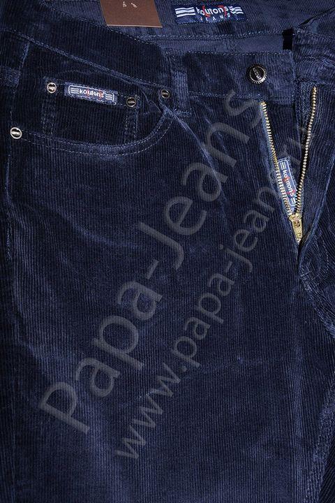Брюки мужские Koutons KL-8126 Blue-Blue вельветовые - фото 3