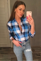 Рубашка Pars Polo женская 701-Blue