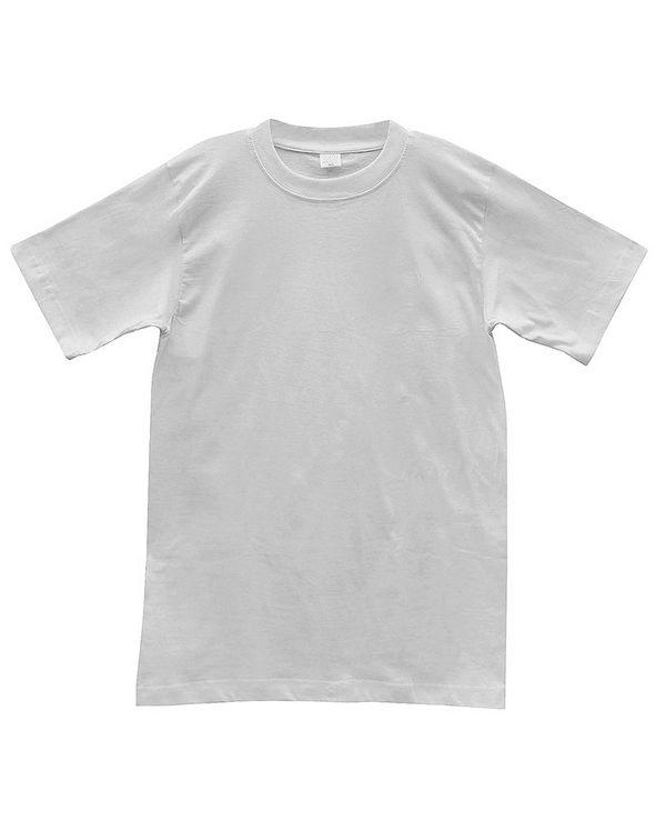 Футболка мужская к/р однотонная белая - фото 1