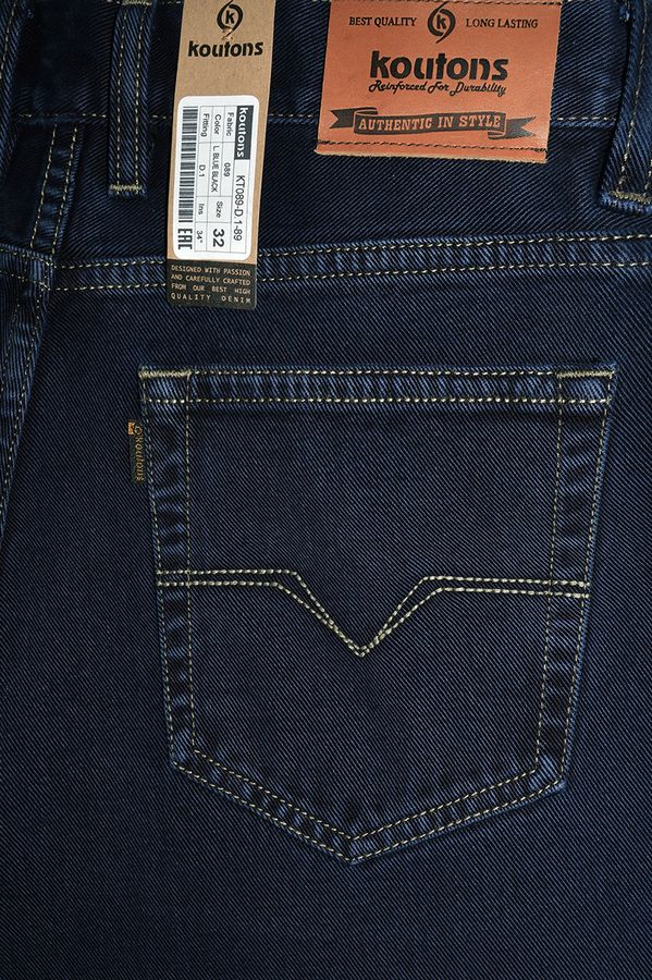 Джинсы мужские Koutons KT089-D.1-89 L.Blue Black - фото 4