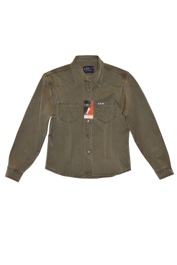 Рубашка женская L.V.D. 306/143 хаки-коричневая - фото 1