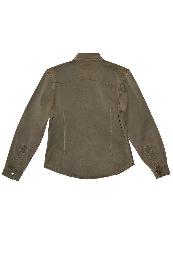 Рубашка женская L.V.D. 306/143 хаки-коричневая - фото 2