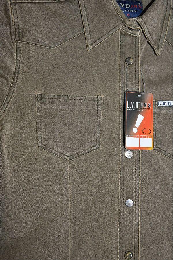 Рубашка женская L.V.D. 306/143 хаки-коричневая - фото 3