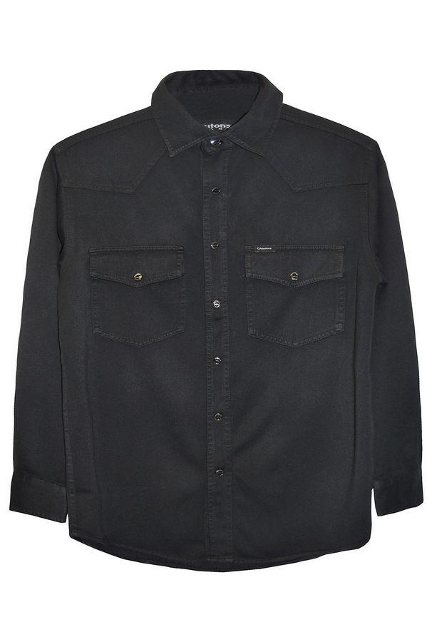 Рубашка мужская Koutons KT 08-01-H Black-Black - фото 1