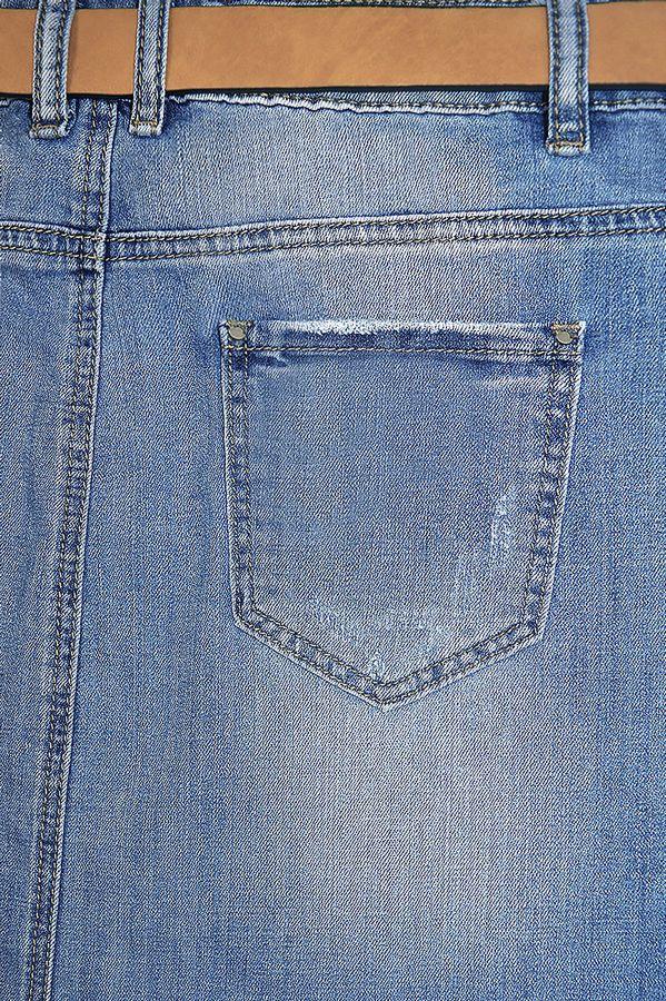 Юбка женская Amadge Q207 с ремнем - фото 4