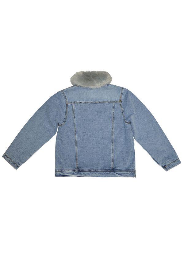 Куртка женская LRZBS 1950 (серый ворот) утепленная - фото 2