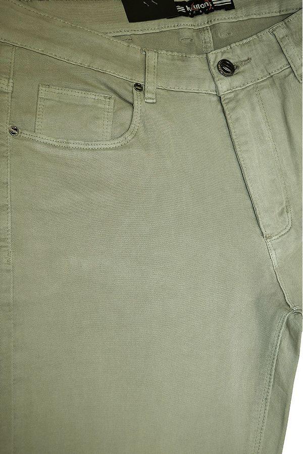Джинсы мужские Koutons KL-1674 Stretch L.Olive - фото 4