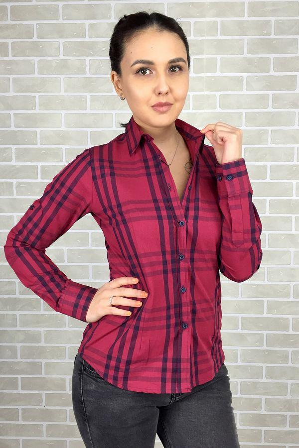 Рубашка женская Pars Polo 710-Red - фото 1