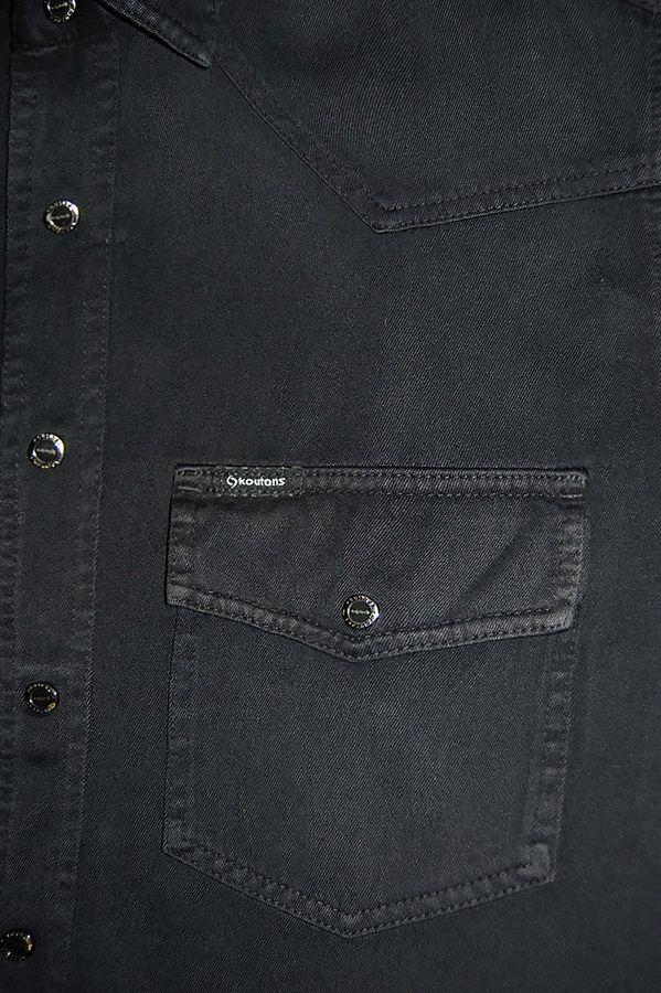Рубашка мужская Koutons KT 08-01-H Black-Black - фото 2
