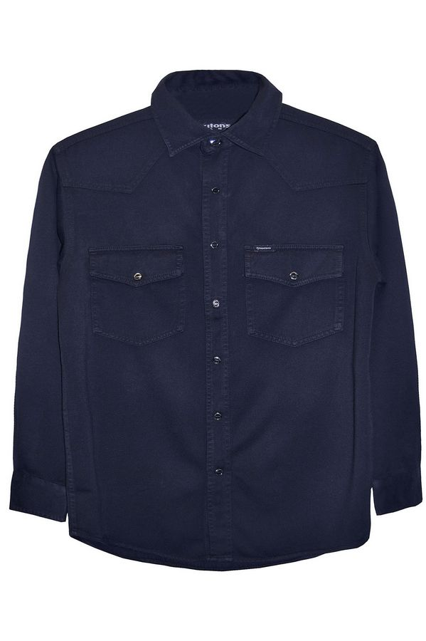 Рубашка мужская Koutons KT 08-01-26 Blue-Blue - фото 1