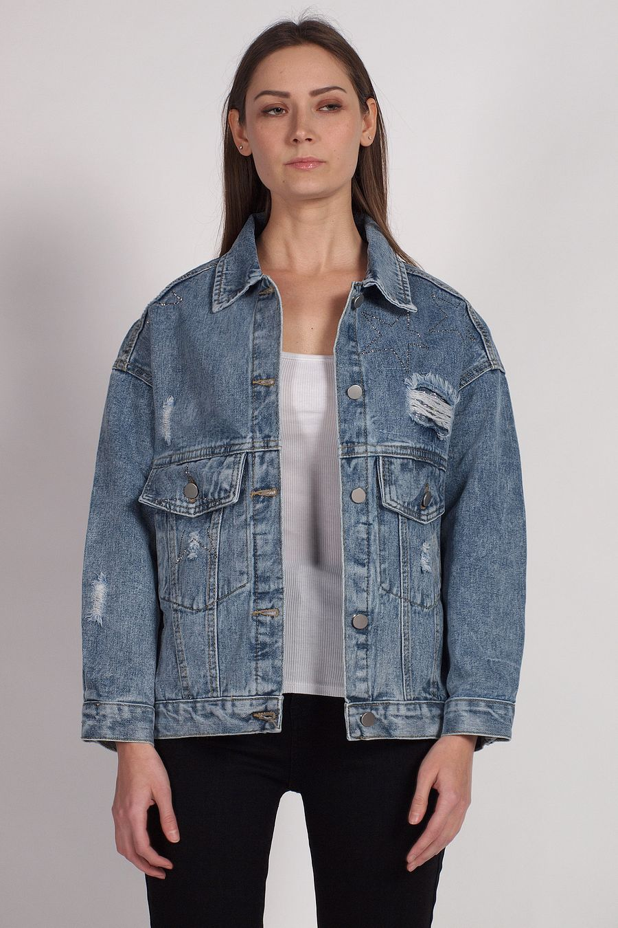 Жакет женский (джинсовка) LRZBS 2059 - фото 1