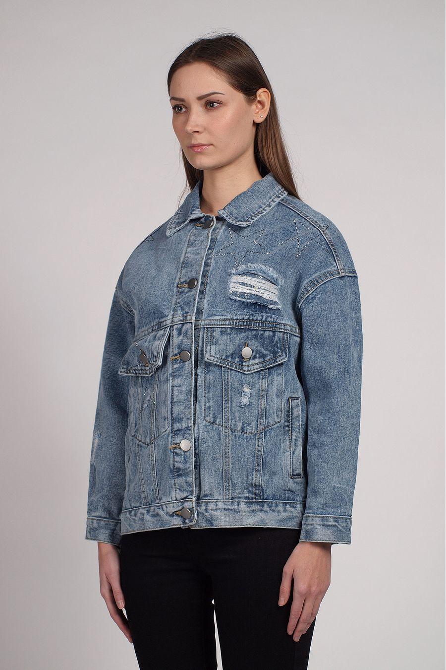 Жакет женский (джинсовка) LRZBS 2059 - фото 2
