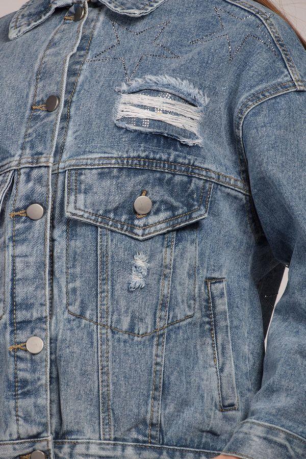 Жакет женский (джинсовка) LRZBS 2059 - фото 4