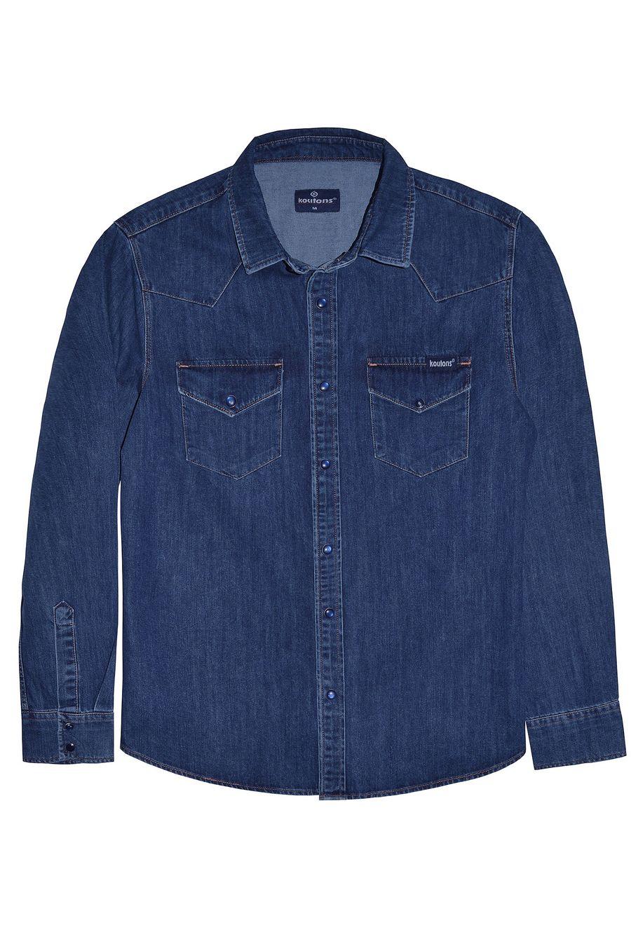 Рубашка мужская Koutons 1997 Talin Blue 02 - фото 1
