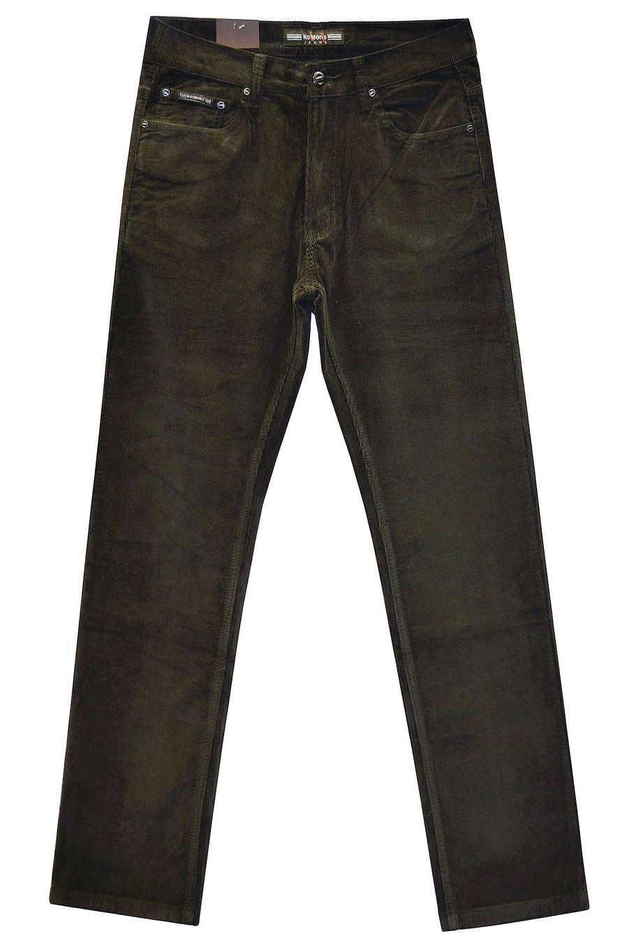 Брюки мужские Koutons KL-8104 Brown вельветовые - фото 1