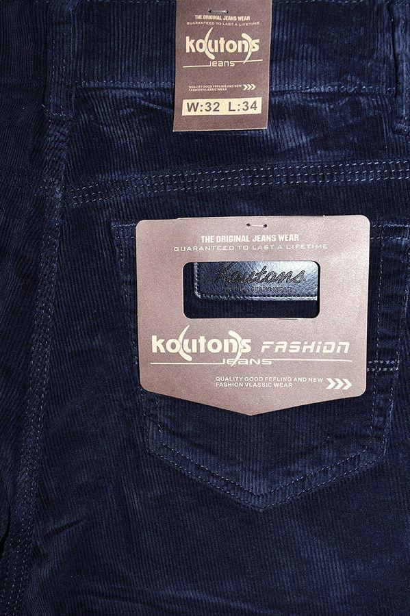 Брюки мужские Koutons KL-8126V Blue-Blue вельветовые - фото 4