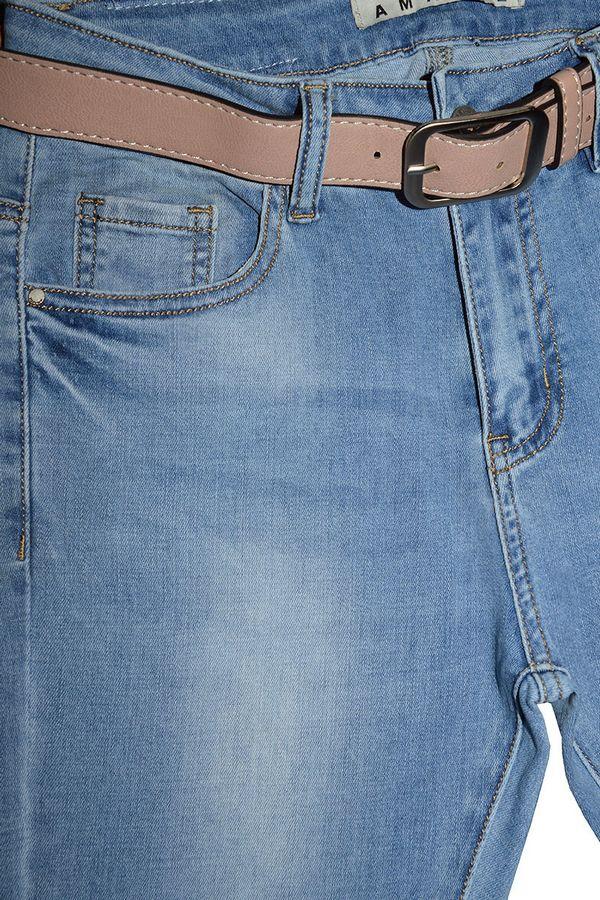 Джинсы женские Amadge 3985 с ремнем - фото 3