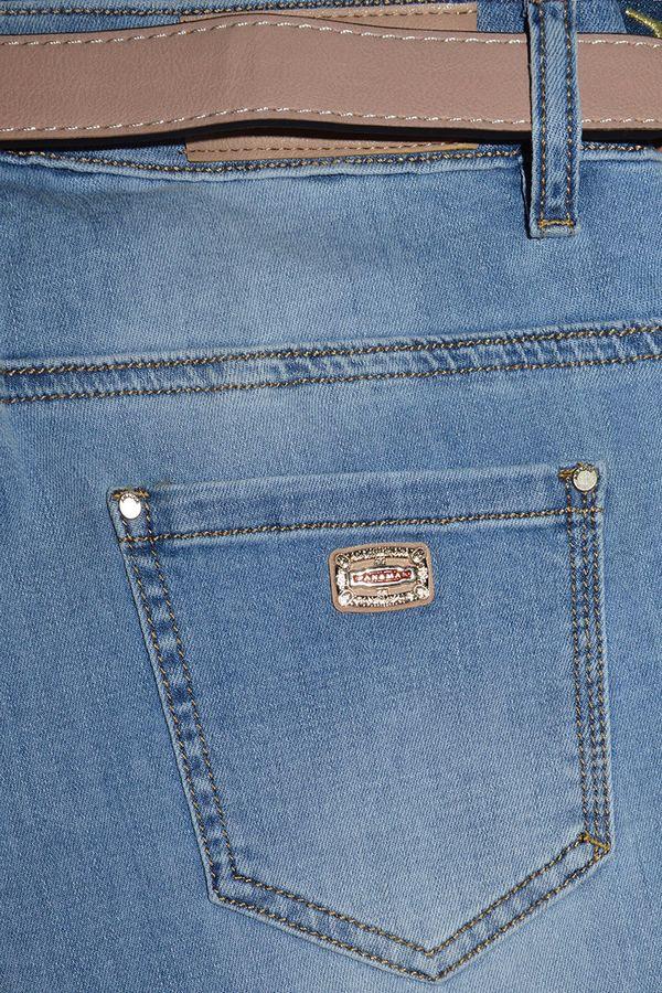 Джинсы женские Amadge 3985 с ремнем - фото 4