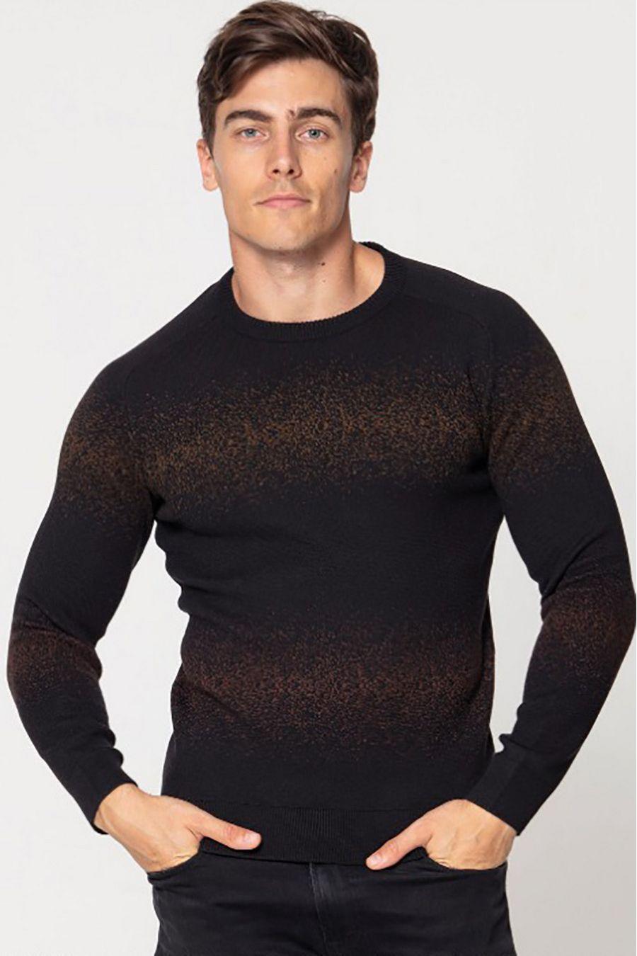 Джемпер (свитер) мужской Pooll Park 201401 Black (Red) - фото 1