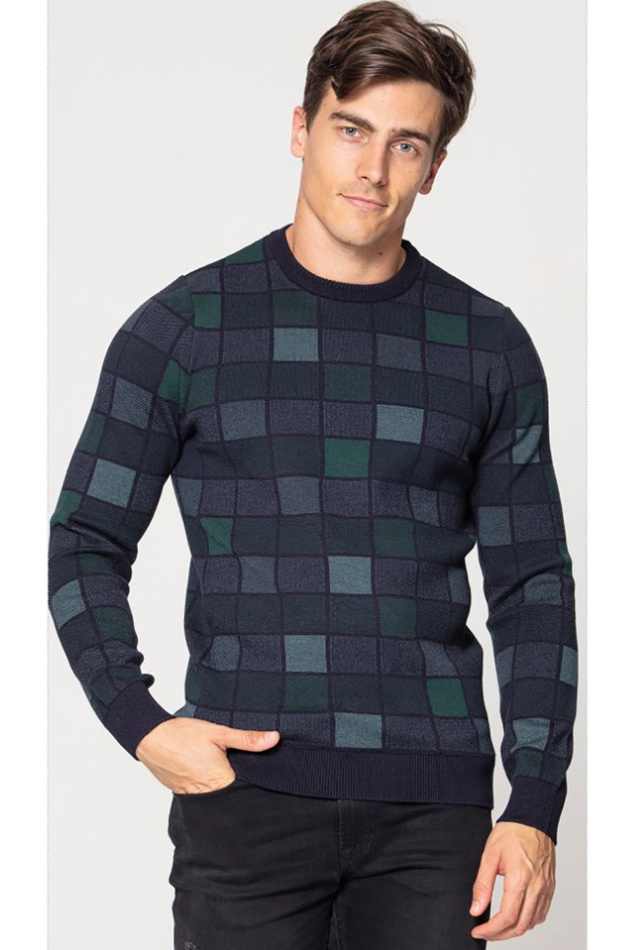 Джемпер (свитер) мужской Pooll Park 201402 Laci (Green) - фото 1