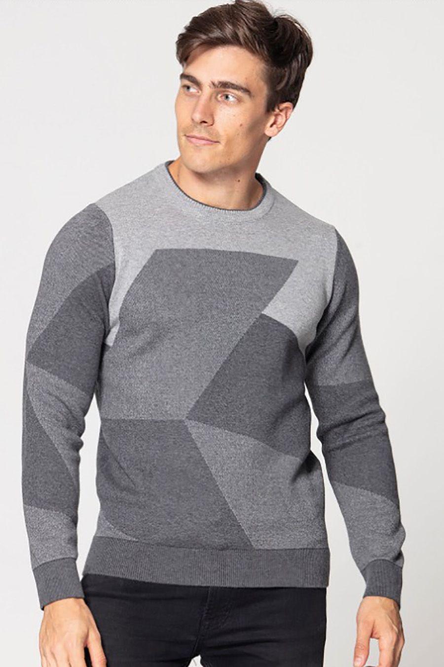 Джемпер (свитер) мужской Pooll Park 201432 Grey - фото 1