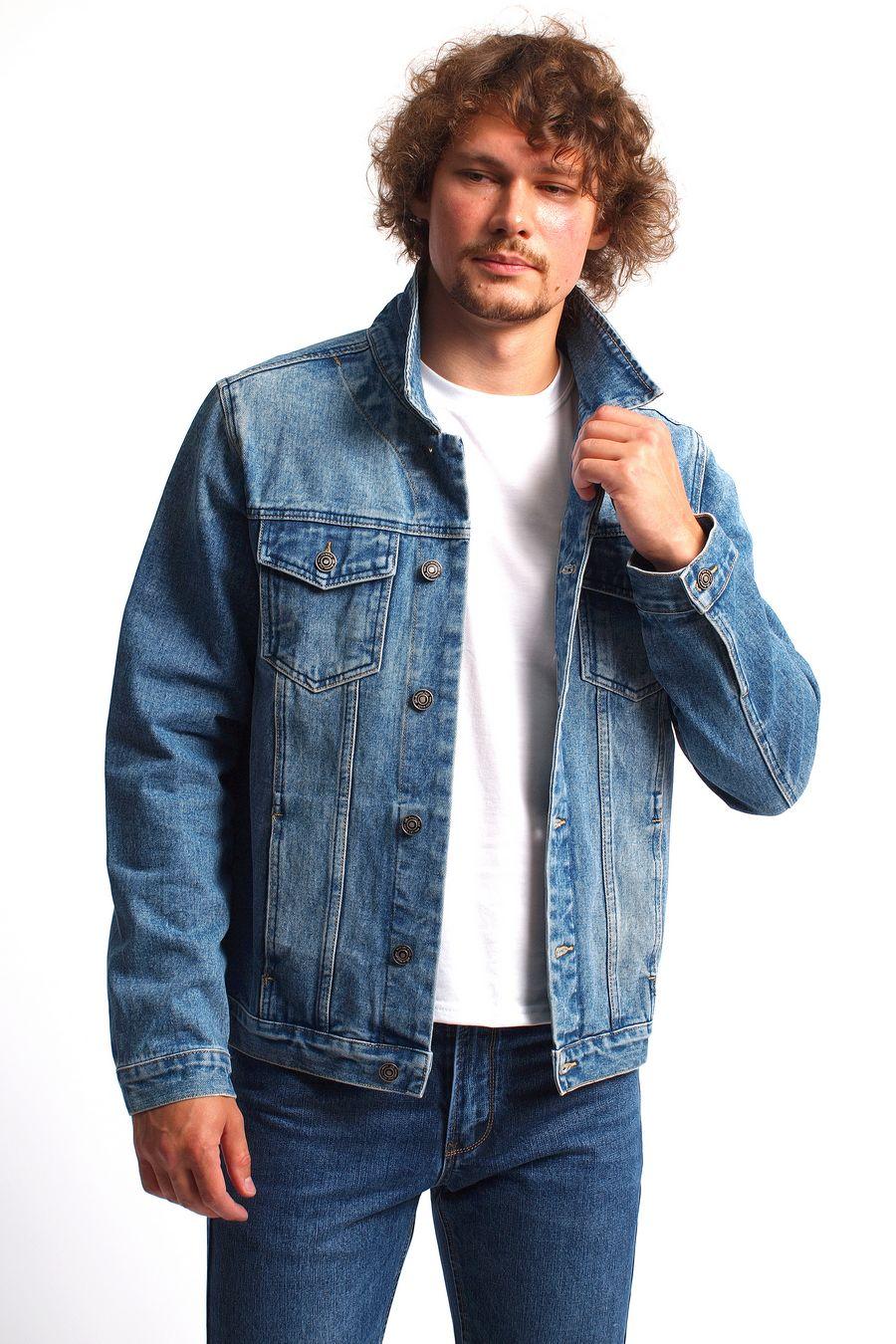 Пиджак мужской (джинсовка) R.KROOS 1017 - фото 1