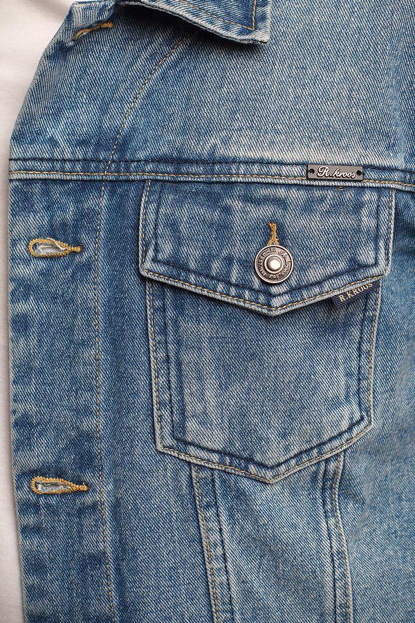Пиджак мужской (джинсовка) R.KROOS 1017 - фото 3