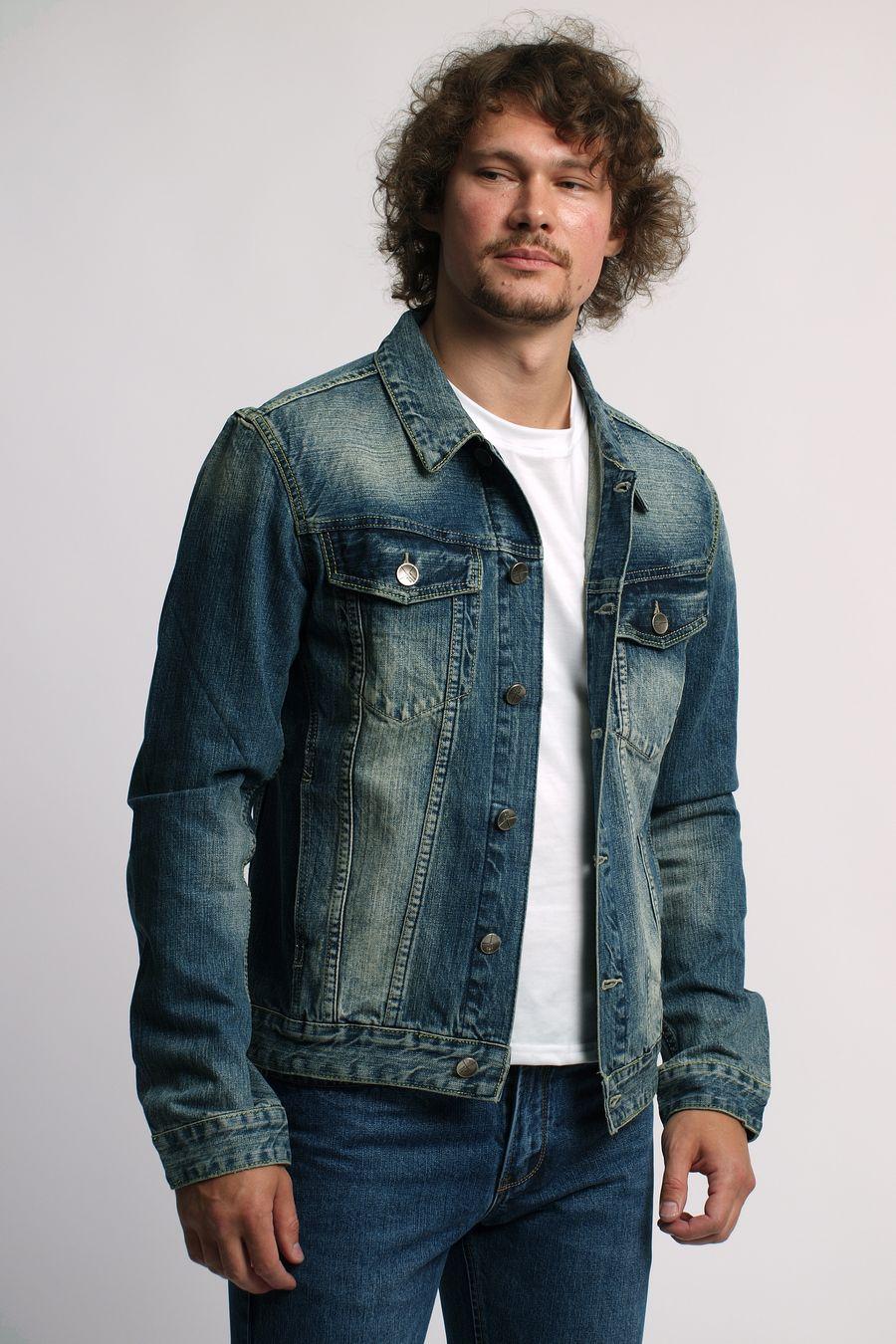 Пиджак мужской (джинсовка) Regass 87168/05 - фото 1