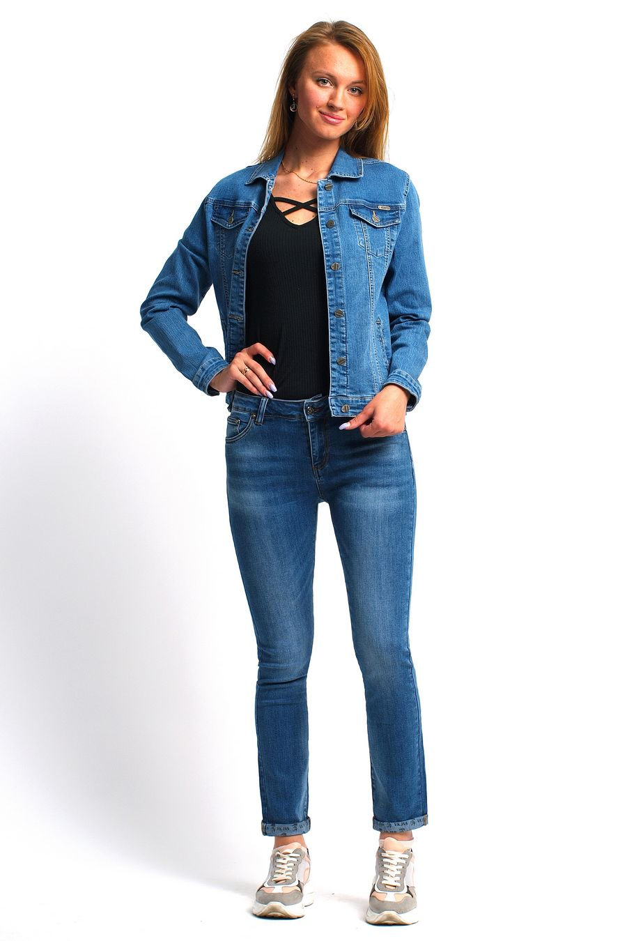 Пиджак женский (джинсовка) Bicstar 2508-AW-2 - фото 2