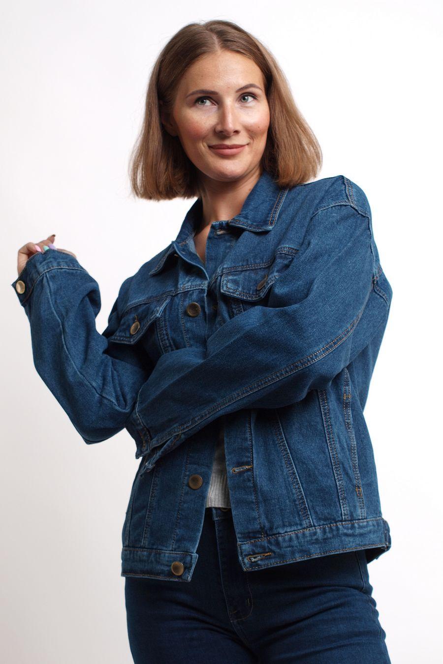 Пиджак женский (джинсовка) K.Y Jeans 292 - фото 5