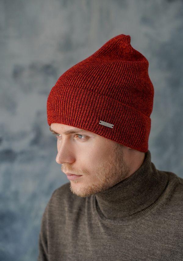Шапка мужская John Trigger 8.722-2 оранжевая/бордовая - фото 1