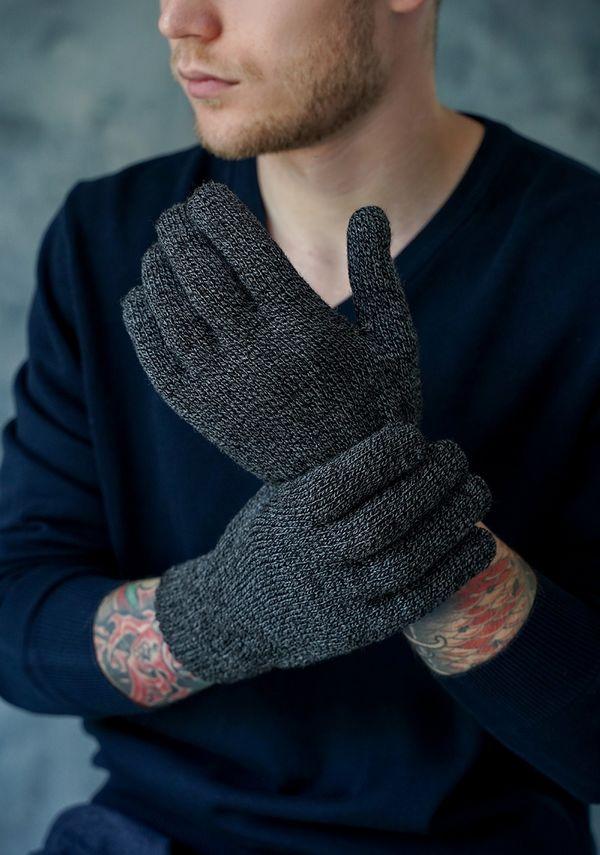 Перчатки мужские John Trigger 8.720-1 черные/серые - фото 1