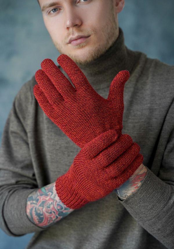 Перчатки мужские John Trigger 8.720-2 оранжевые/бордовые - фото 1