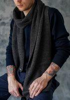 Шарф мужской John Trigger 8.719-1 черный/серый