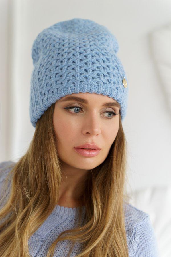 Шапка женская Mira Adriana 7.561-03 голубая - фото 1