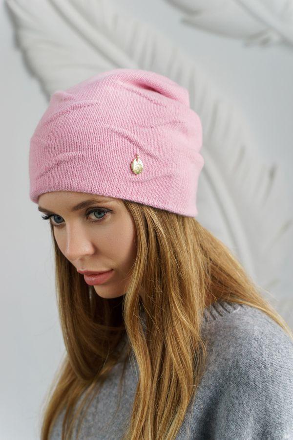 Шапка женская Mira Adriana 7.567-04 розовая (утепленная) - фото 1
