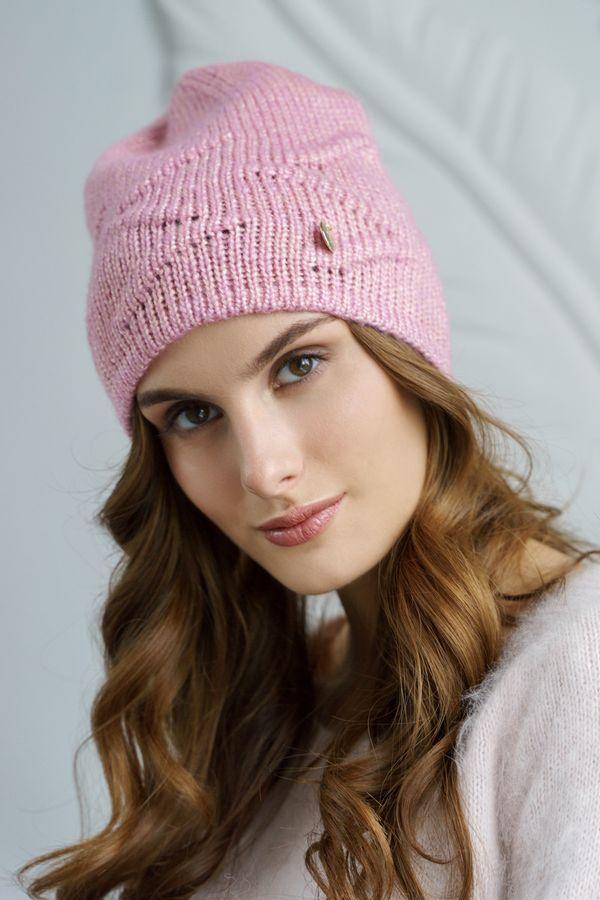 Шапка женская Mira Adriana 7.587-1 розовая - фото 1