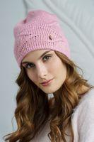 Шапка женская Mira Adriana 7.587-1 розовая
