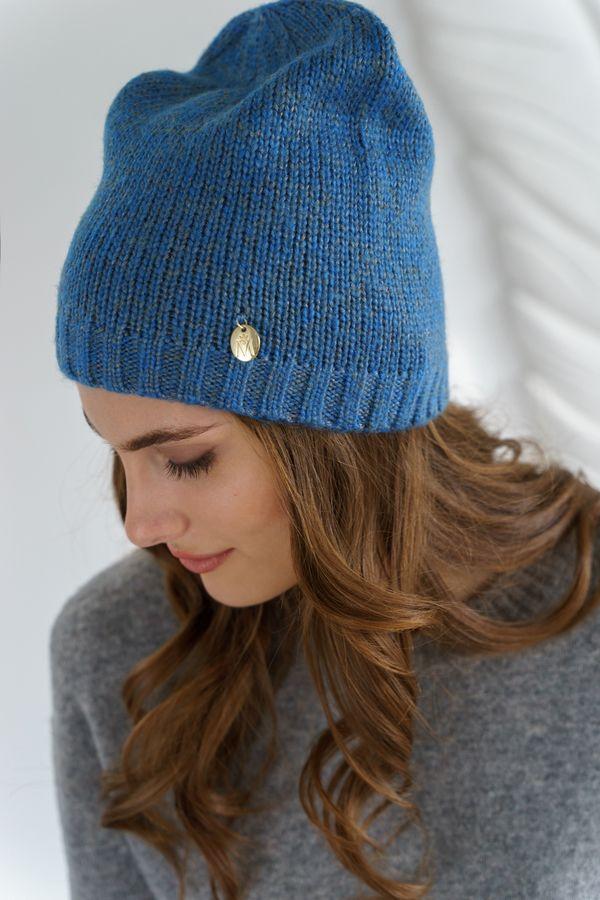 Шапка женская Mira Adriana 7.588-5 синяя - фото 1