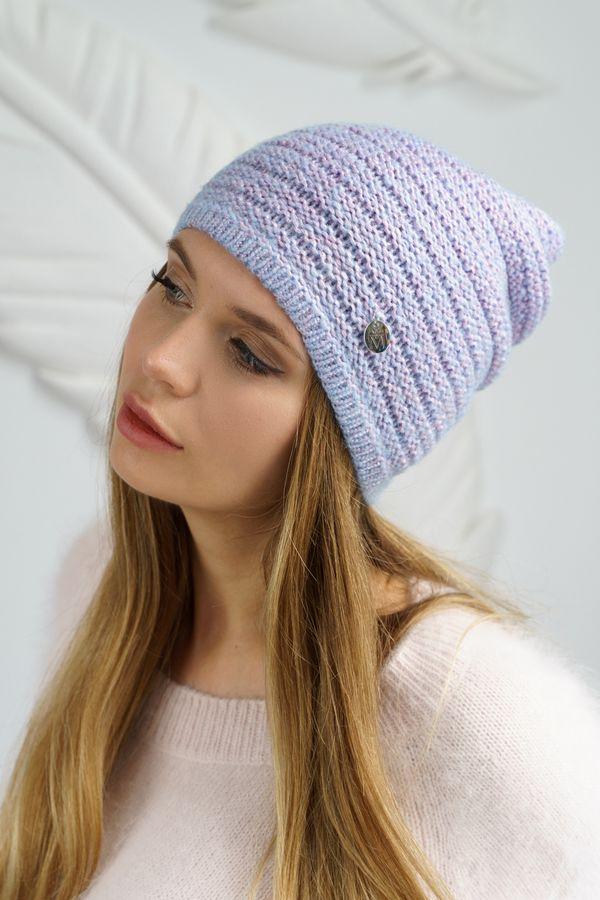 Шапка женская Mira Adriana 7.589-3 голубая - фото 1