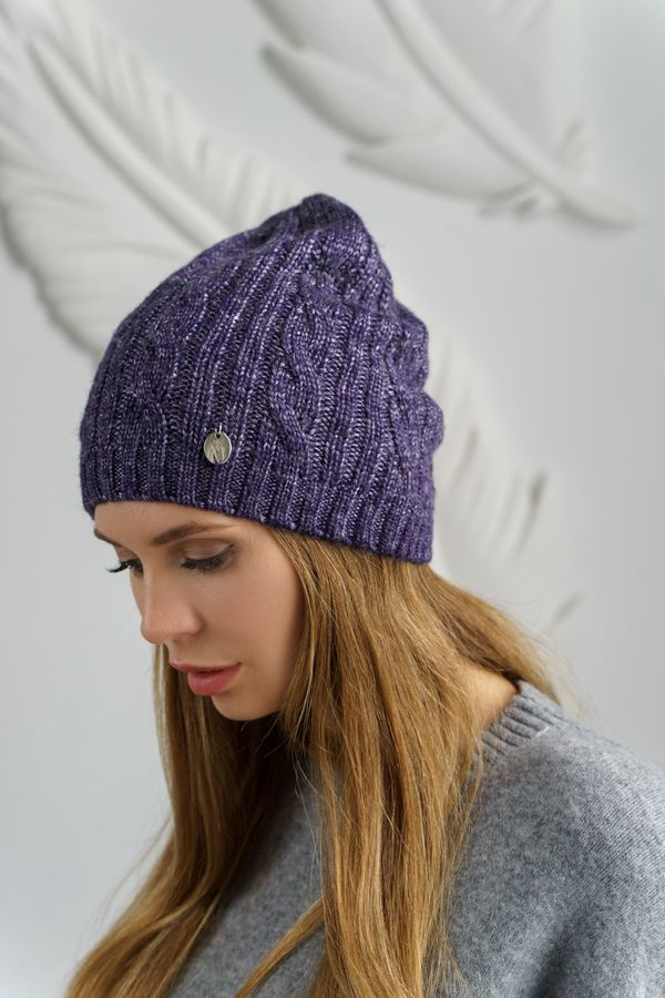 Шапка женская Mira Adriana 7.591-2 фиолетовая - фото 1
