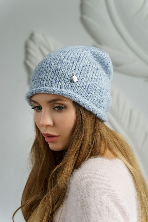 Шапка женская Mira Adriana 7.596-2 голубая меланж - фото 1