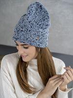 Шапка женская Mira Adriana 7.596-4 синяя/голубая меланж