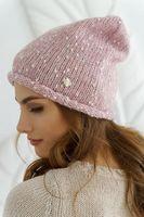 Шапка женская Mira Adriana 7.596-6 розовая меланж