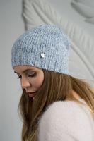 Шапка женская Mira Adriana 7.597-2 голубая меланж