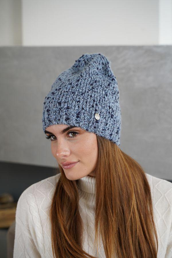Шапка женская Mira Adriana 7.597-4 синяя/голубая меланж - фото 1