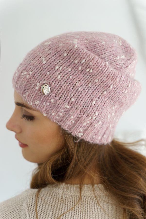 Шапка женская Mira Adriana 7.597-6 розовая меланж - фото 1