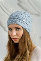 Шапка женская Mira Adriana 7.598-2 голубая меланж
